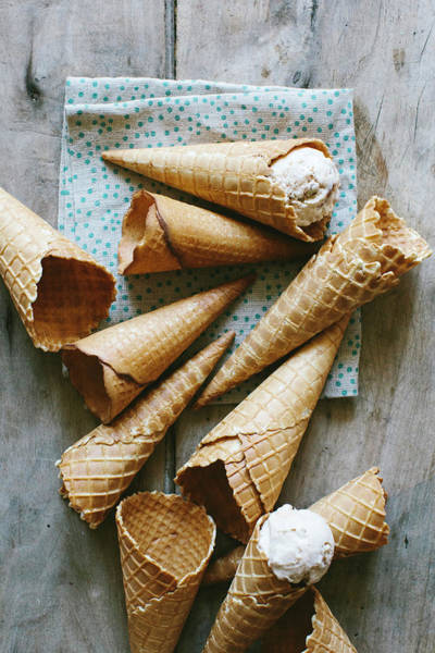 Ice Cream Photograph - Germany, Berlin, Ice Cream Cones With by Schon & Probst