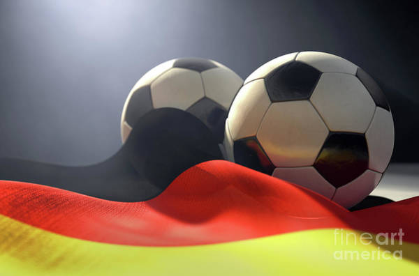 Wall Art - Digital Art - Germany Flag And Soccer Ball by Allan Swart