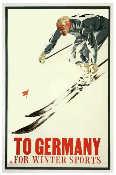 Mixed Media - Germany Vintage Winter Sports Poster by Movie Poster Prints