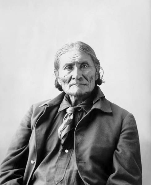 Wall Art - Photograph - Geronimo Portrait - 1898 by War Is Hell Store
