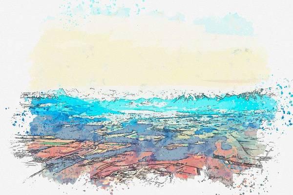 Painting - Gerzensee, Switzerland -  Watercolor By Adam Asar by Adam Asar