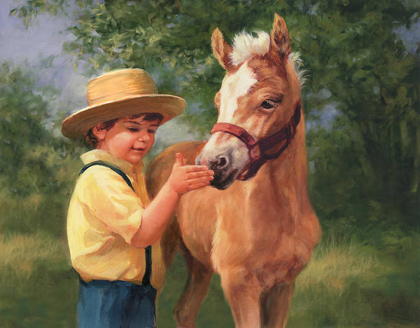 Wall Art - Painting - Getting Acquainted by Laurie Snow Hein