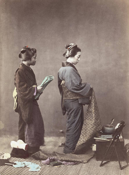 Teapot Photograph - Getting Dressed by Felice Beato