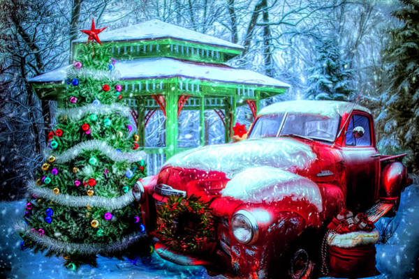 Rusty Truck Digital Art - Getting Ready For Christmas by Debra and Dave Vanderlaan
