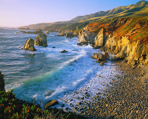 Surf City Usa Photograph - Getting Refreshed At The Big Sur Coast by Ron thomas