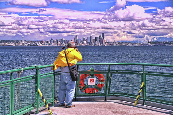Elliot Bay Wall Art - Photograph - Getting The Shot - Seattle by Allen Beatty