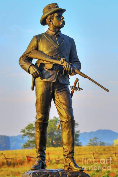 Wall Art - Digital Art - Gettysburg 2nd Pennsylvania Cavalry Monument by Randy Steele