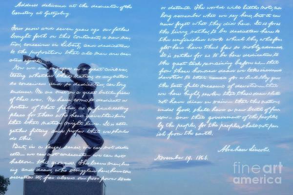 Wall Art - Digital Art - Gettysburg Address 72nd Pennsylvania Infantry by Randy Steele
