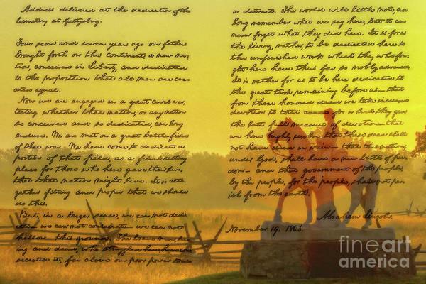 Wall Art - Digital Art - Gettysburg Address Eighth Pennsylvania Cavalry by Randy Steele