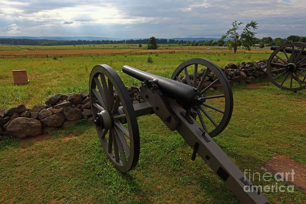 Cemetery Ridge Photograph - Gettysburg Battlefield Historic Monument by James Brunker