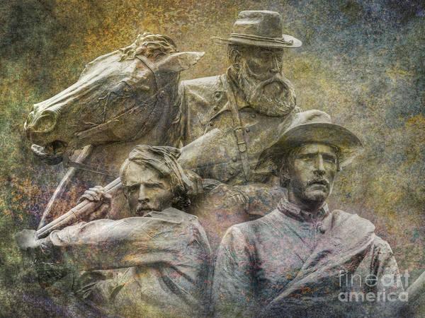 Wall Art - Digital Art - Gettysburg Longstreet North Carolina Monuments by Randy Steele