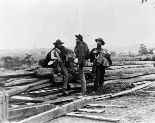 Gettysburg Battlefield Photograph - Gettysburg Prisoners by Mpi