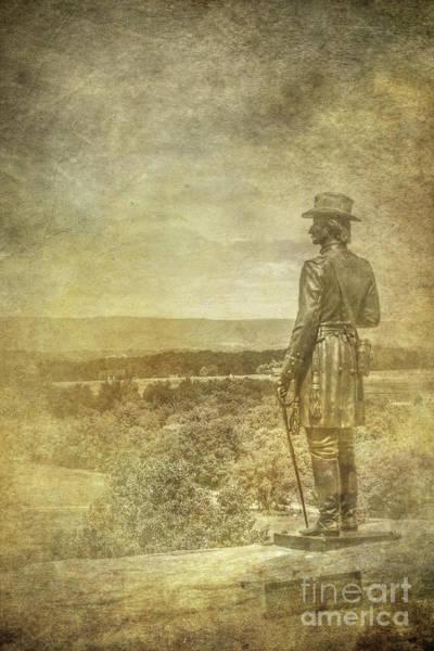 Wall Art - Digital Art - Gettysburg Warren Statue Little Round Top One by Randy Steele