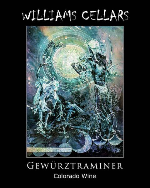 Painting - Gewurztraminer Wine Label by Williams Cellars