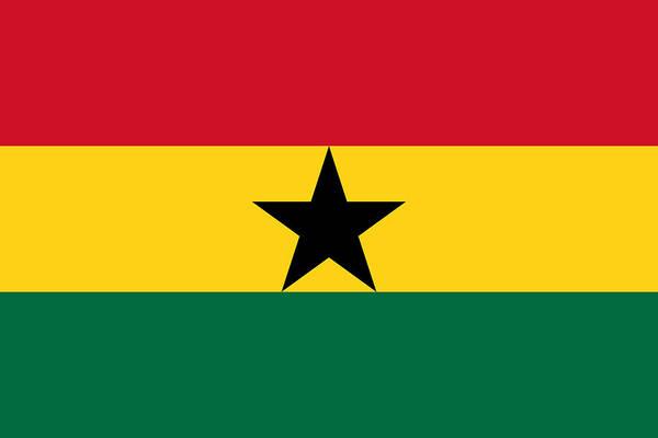 Ghana Painting - Ghana by Flags