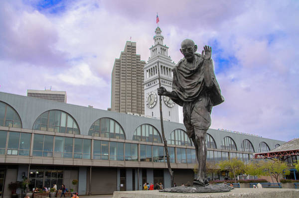 Photograph - Ghandi Statue - San Francisco by Bill Cannon