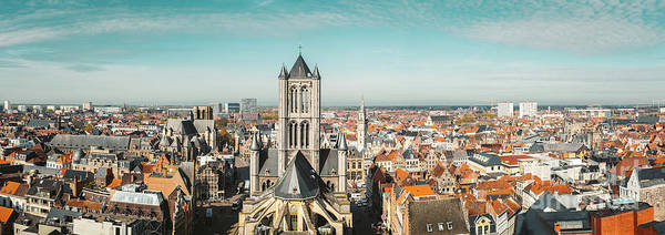Wall Art - Photograph - Ghent Rooftops Panorama by JR Photography