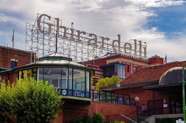 Photograph - Ghirardelli Square - San Francisco California by Bill Cannon