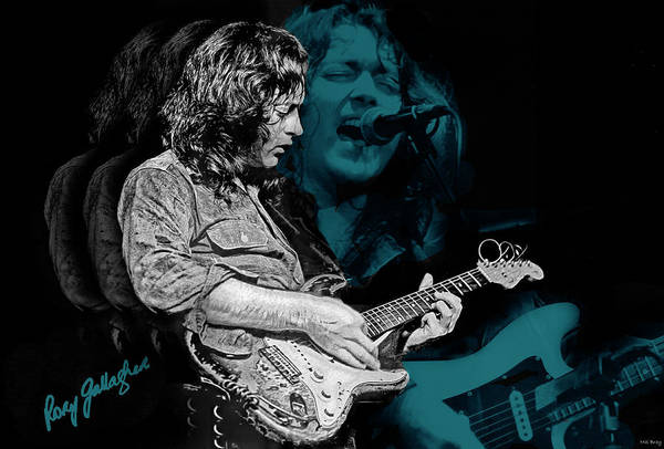 Donegal Digital Art - Ghost Blues For Rory by Mal Bray