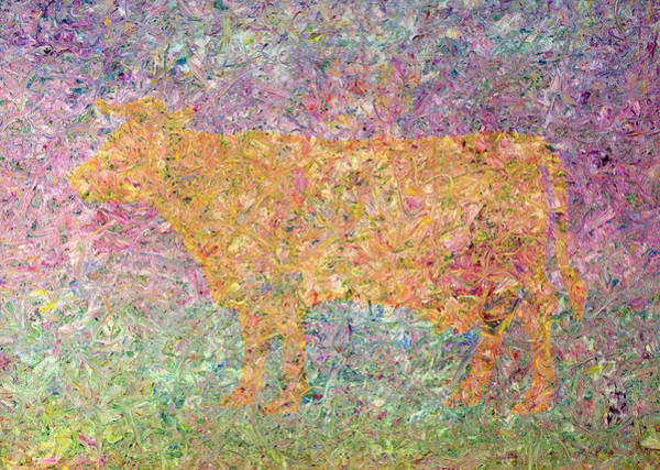 Color Field Wall Art - Painting - Ghost Of A Cow by James W Johnson
