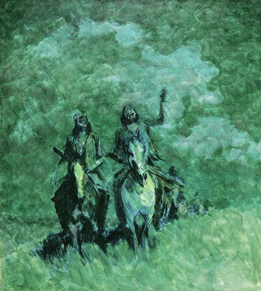 Wall Art - Painting - Ghost Stories, 1908 by Frederic Remington