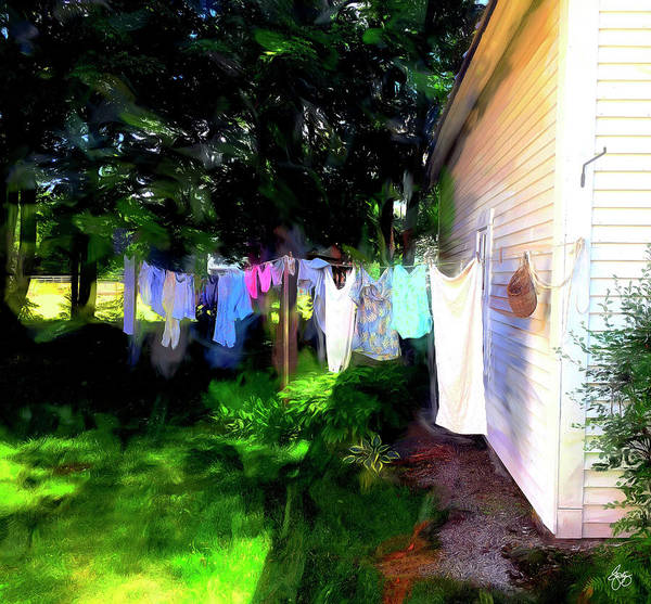 Photograph - Ghost Wind In The Washline by Wayne King