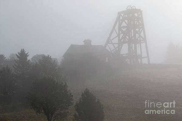 Photograph - Ghostly Foggy Mine Country by Steve Krull