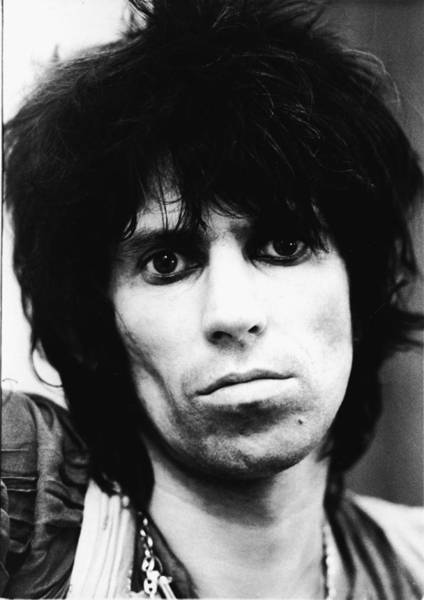 Rock Music Photograph - Ghostly Keith Richards by Express Newspapers