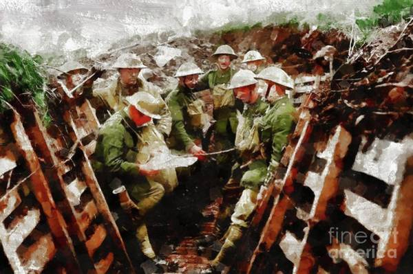 Dday Wall Art - Painting - Ghosts Of World War One by Mary Bassett
