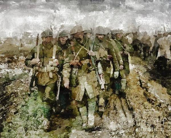 Dday Wall Art - Painting - Ghosts Of Wwi by Mary Bassett
