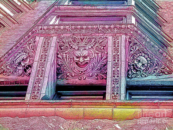 Photograph - Ghoulish Gargoyles Abstract by Anita Pollak