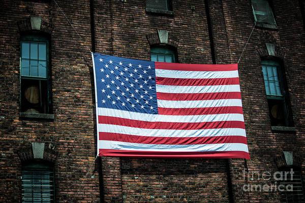 Photograph - Giant American Flag - Buffalo Trace Bourbon Distillery - Frankfort - Kentucky  by Gary Whitton