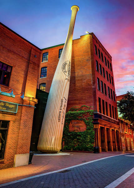Photograph - Giant Baseball Bat In Downtown Louisville Kentucky by Gregory Ballos