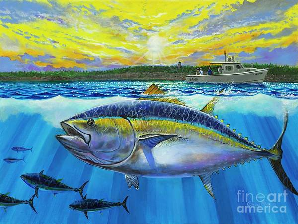 Wall Art - Painting - Giant Bluefin Tuna  by Carey Chen