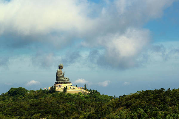 Giant Buddha Photograph - Giant Buddha by Wilfred Y Wong