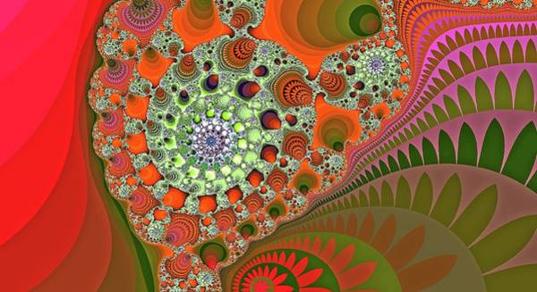 Digital Art - Giant Mountain Spiral Orange 2 by Don Northup