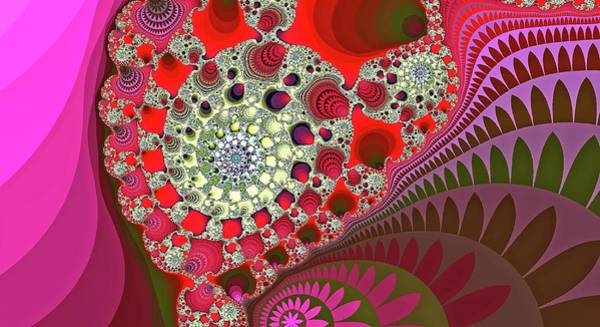 Digital Art - Giant Mountain Spiral Red by Don Northup