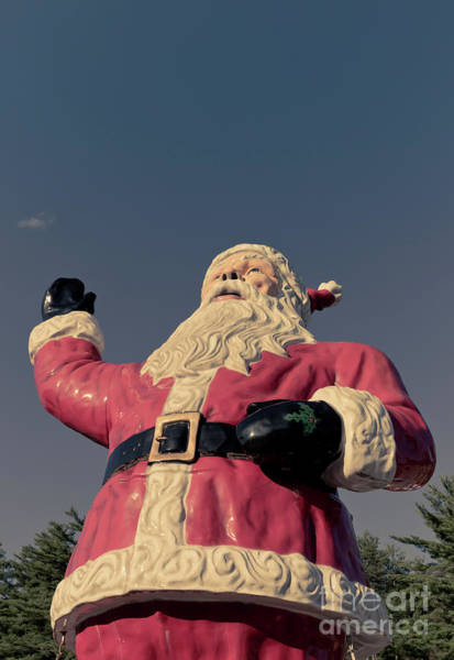 Santa Photograph - Giant Santa Claus Christmas Card 2 by Edward Fielding