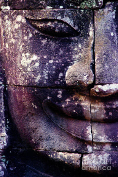 Wall Art - Photograph - Giant Smiling Face Bayon Temple, Angkor by D'july