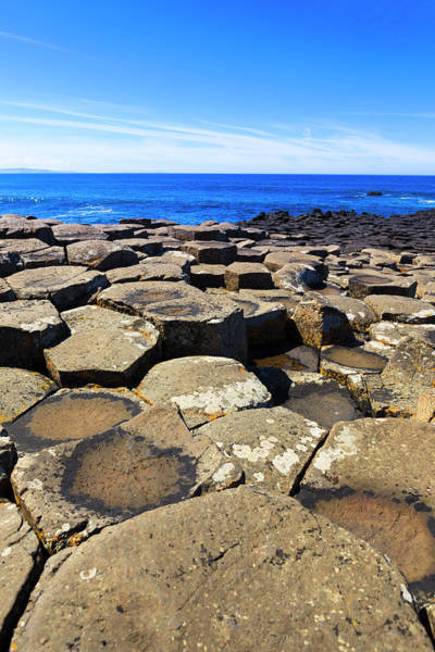 Basalt Columns Photograph - Giants Causeway In Northen Ireland by Pawel.gaul