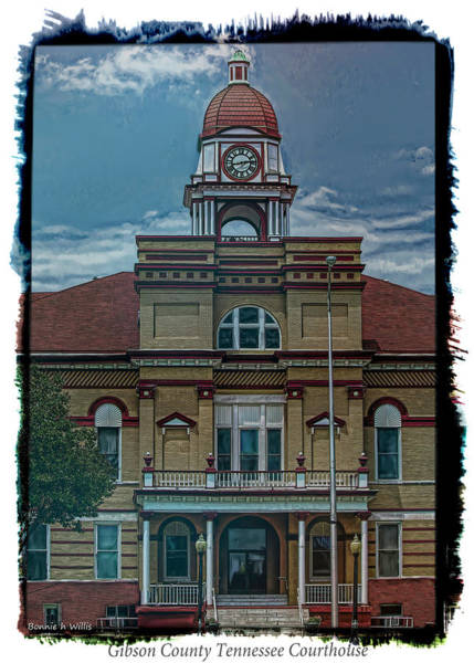 Photograph - Gibson County Tn Courthouse by Bonnie Willis