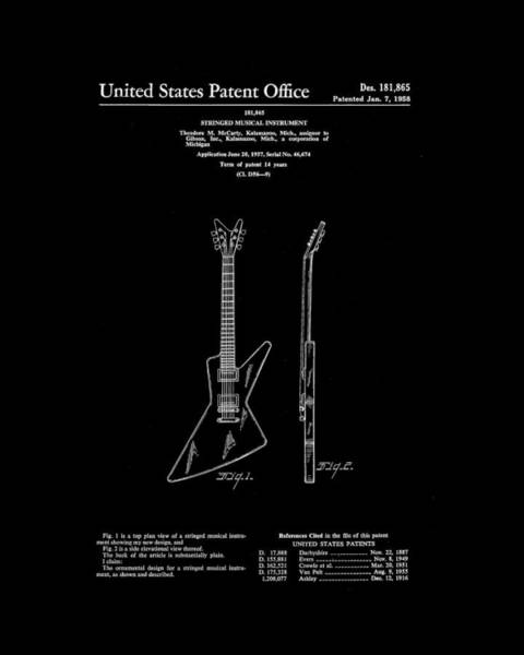 Strat Photograph - Gibson Explorer Guitar by Tim Palmer
