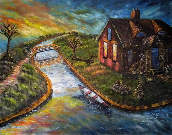 Wall Art - Painting - Giethoorn In Overijssel by Jo lan Tao