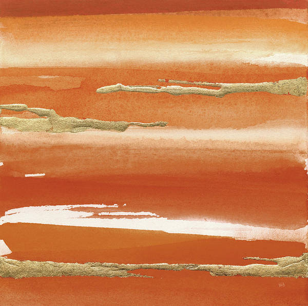 Wall Art - Painting - Gilded Mandarin IIi Burnt Orange by Chris Paschke