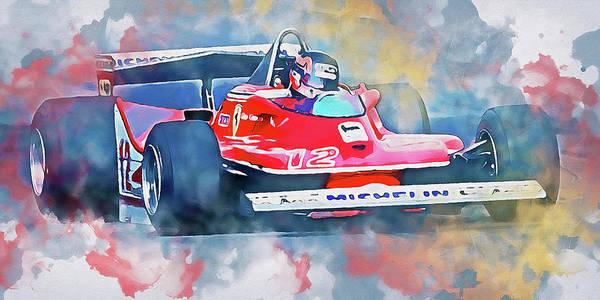 Painting - Gilles Villeneuve, Ferrari - 05 by Andrea Mazzocchetti