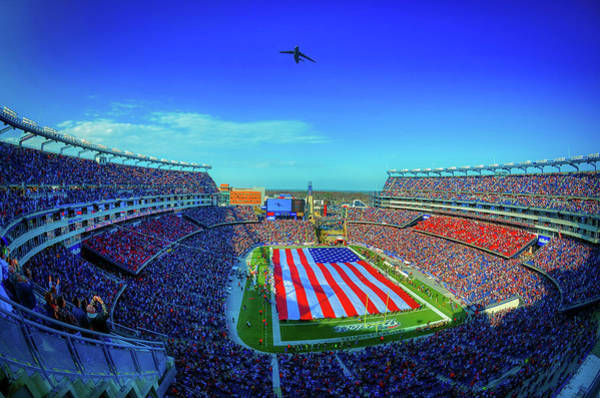 Wall Art - Photograph - Gillete Stadium Flyover by U S A F