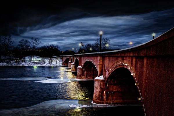 Photograph - Gillett Bridge Grand Rapids Michigan by Evie Carrier
