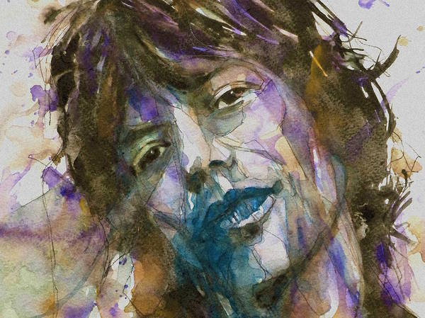 Rolling Stones Painting - Gimme Shelter - Mick Jagger - Resize Crop  by Paul Lovering