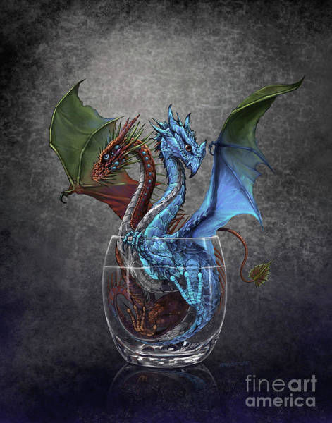 Ice Plant Digital Art - Gin And Tonic Dragon by Stanley Morrison