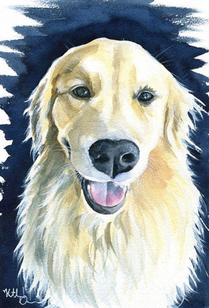 Painting - Gina Golden Retriever Painting by Dora Hathazi Mendes